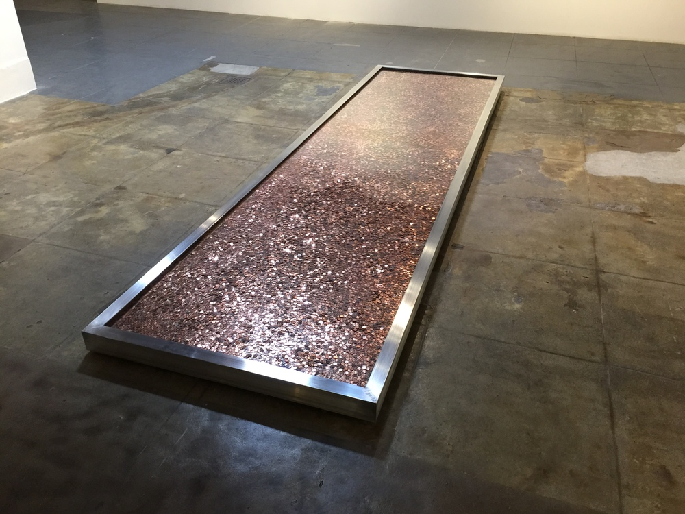 Zuckerberg Wealth In Pennies  James Georgopoulos 2015  Photo Courtesy of MAMA Gallery Los Angeles
