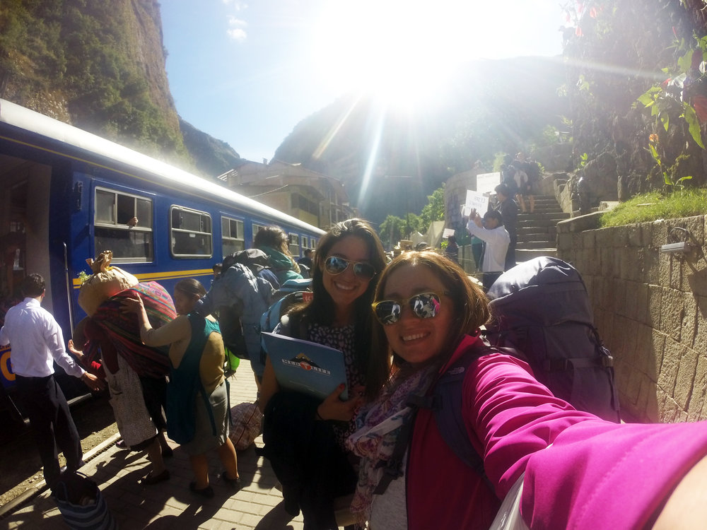 Arriving to Aguas Calientes.