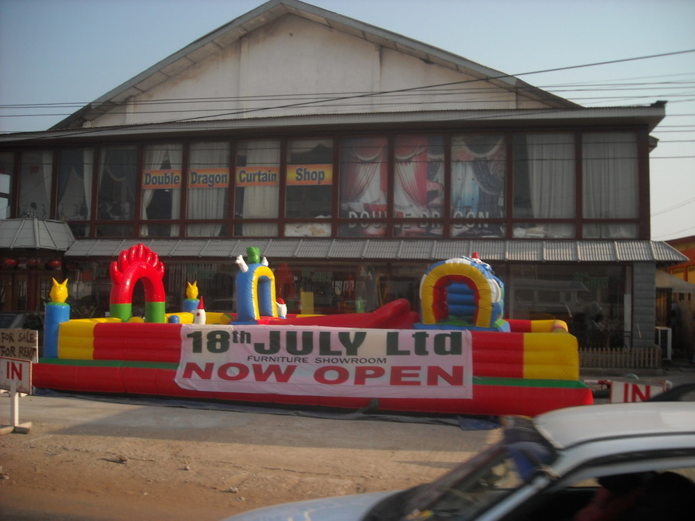 Double Dragon Curtain Shop (with Jumping Castle)