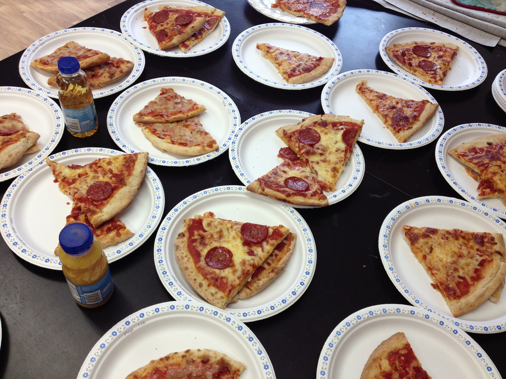 Pizza today ! Special thanks to mr Brandon Joseph for making so pizzas for lVA!