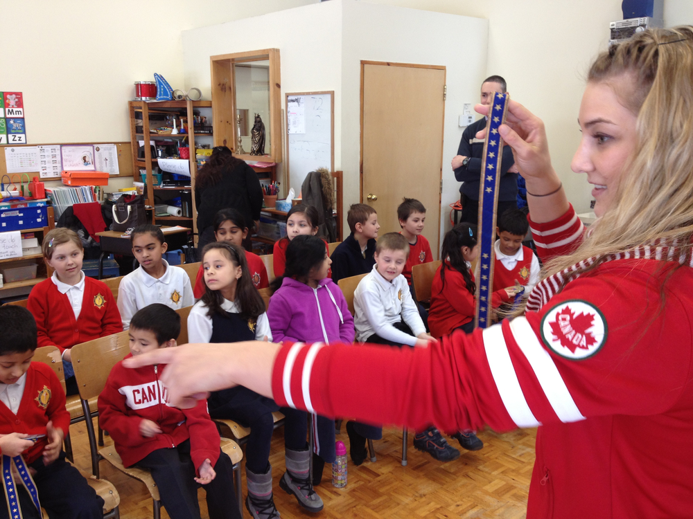 Canadian Olympic London 2012 Judo medalist  ms. Kelita Zupancic, ranking #2 in the world talks to Students