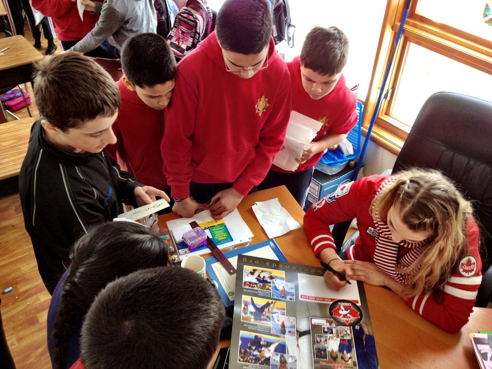Canadian Olympic London 2012 Judo medalist  ms. Kelita Zupancic, ranking #2 in the world talks to  lumen veritatis Students