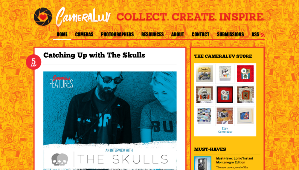 CameraLuv Interview with The Skulls