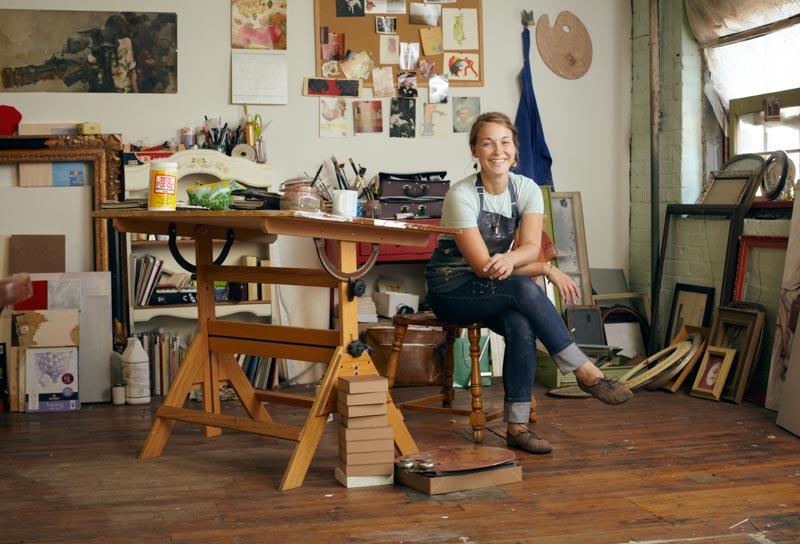 Rebecca Green studio visit
