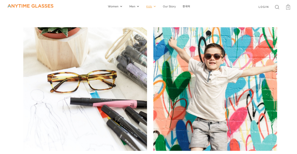 Kids eyewear images by Ryan Pavlovich Photography