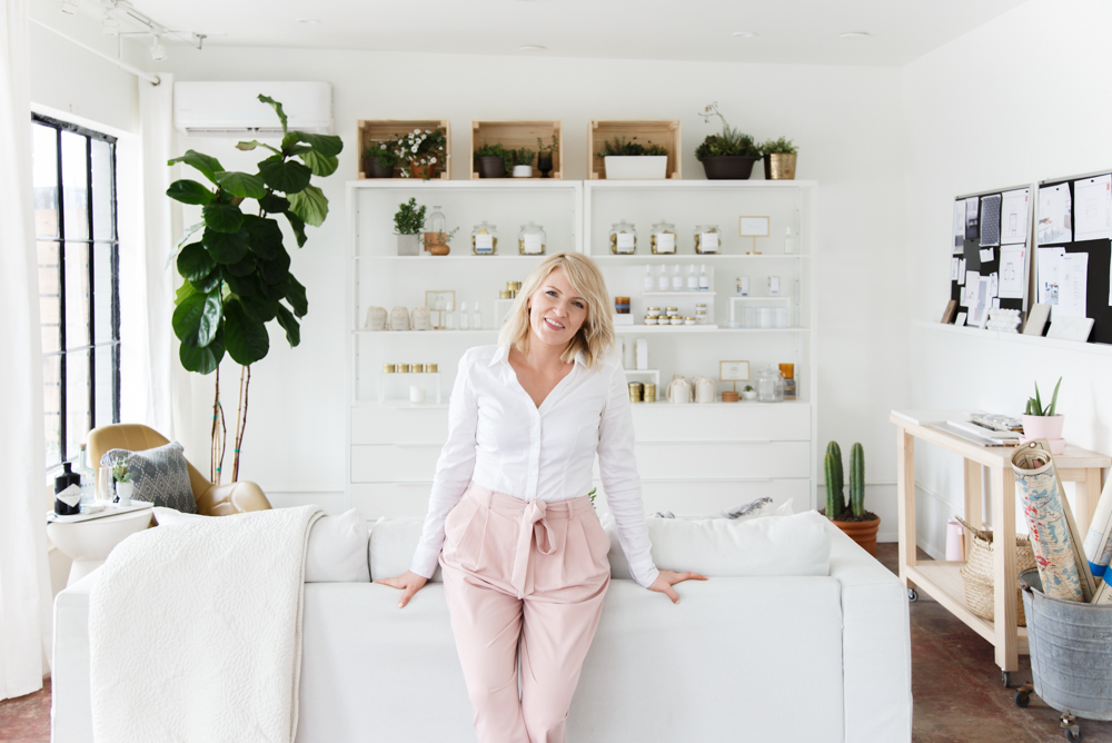 Angela Satterlee from Fairly Modern Home studio visit in Los Angeles, CA