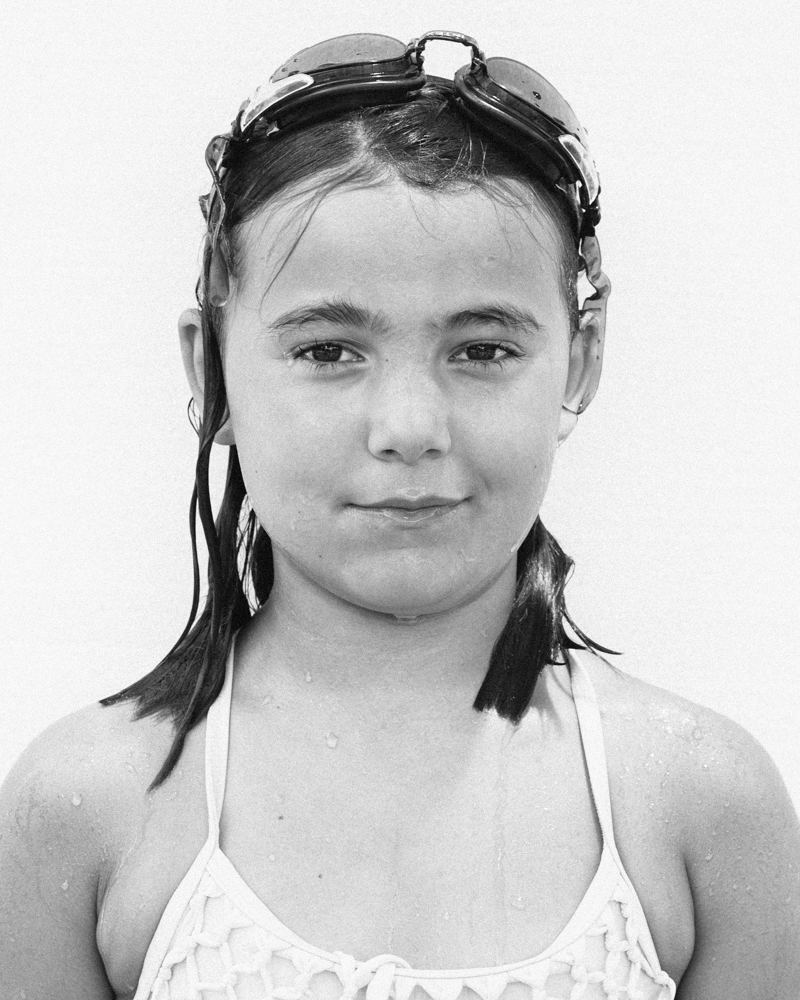 Black and white portrait of a young girl by Ryan Pavlovich