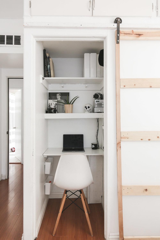 Modern closet office space - Ryan Pavlovich
