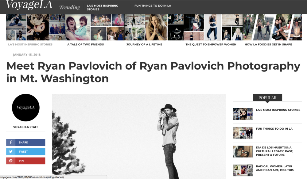 Interview with Ryan Pavlovich on Voyage LA