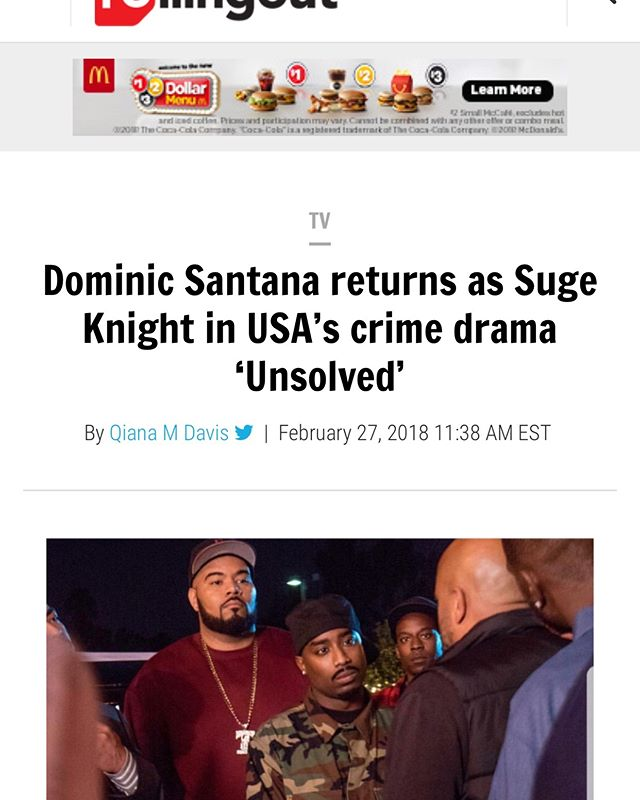 How do you start @unsolvedusa premiere day??? With @rollingout releasing @officialdomsantana interview!!!! #dominicsantana #rollingout #unsolved #fortitudepr