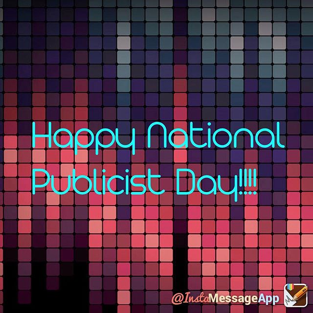 Happy National Publicist Day to all my fellow Publicist 🥂#publicist #nationalpublicistday #PRGirl #entertainmentPR