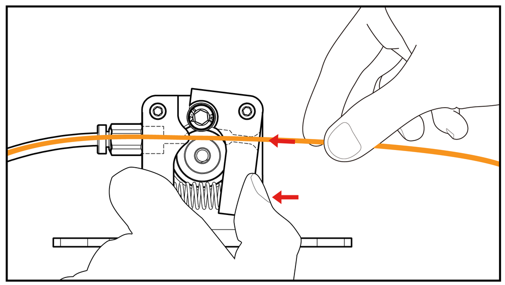 fig.1 - Manual Feeding of Filament