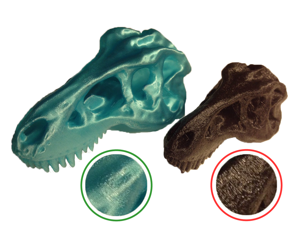fig.4 - Good vs Bad Print Surface