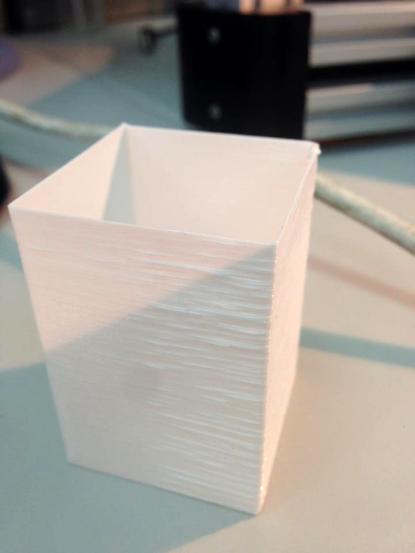 波浪紋的列印成品