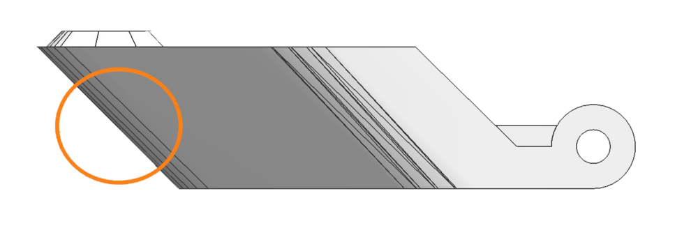 fig.7 - Print Orientation And Overhanging Surface