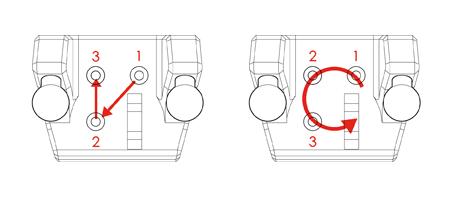 先用對角線方式鎖入洞口  再用順(逆)時鐘方式將螺絲逼緊