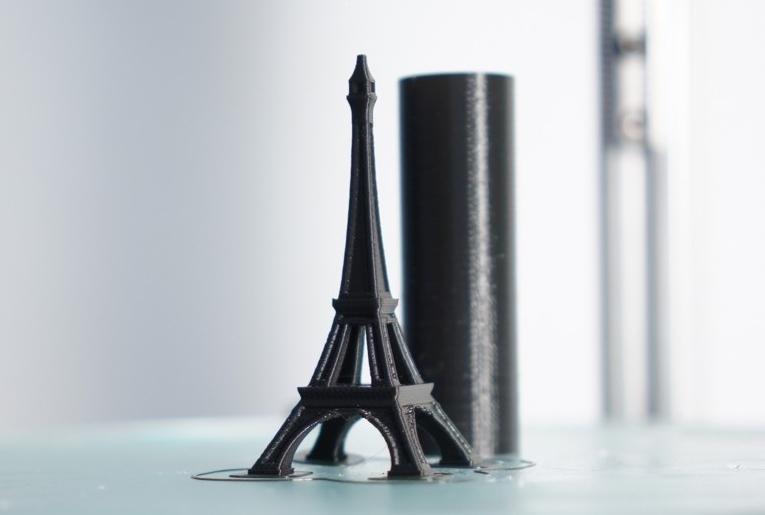 fig.3 - Successfully Printed Eiffel Tower Model