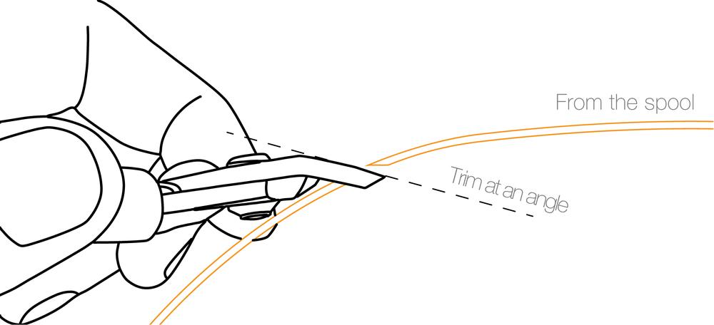 fig.1 - Trimming PLA Filament