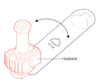 fig.3 Do not over-tighten the components on the hotend assembly.