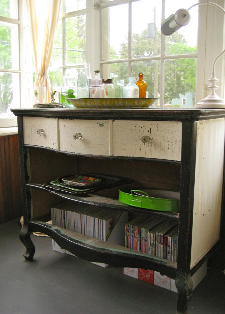 Bureau with Broken Drawers