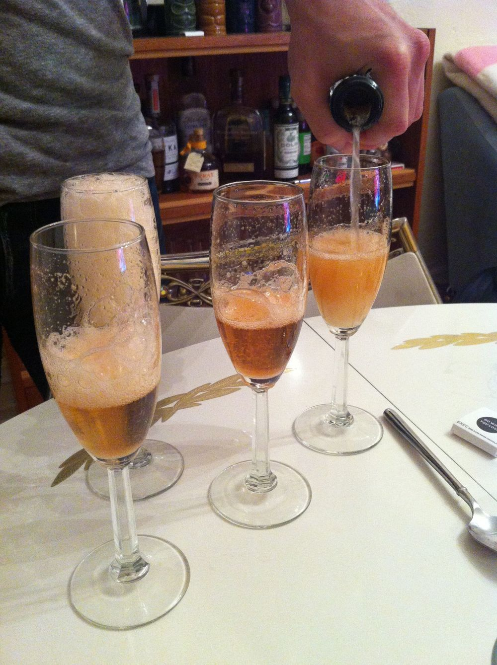 Matthew came to one dress-trying-on party and made us champagne cocktails. What a good boyfriend.