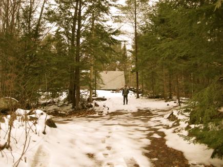 Matthew in snow: a rare sight