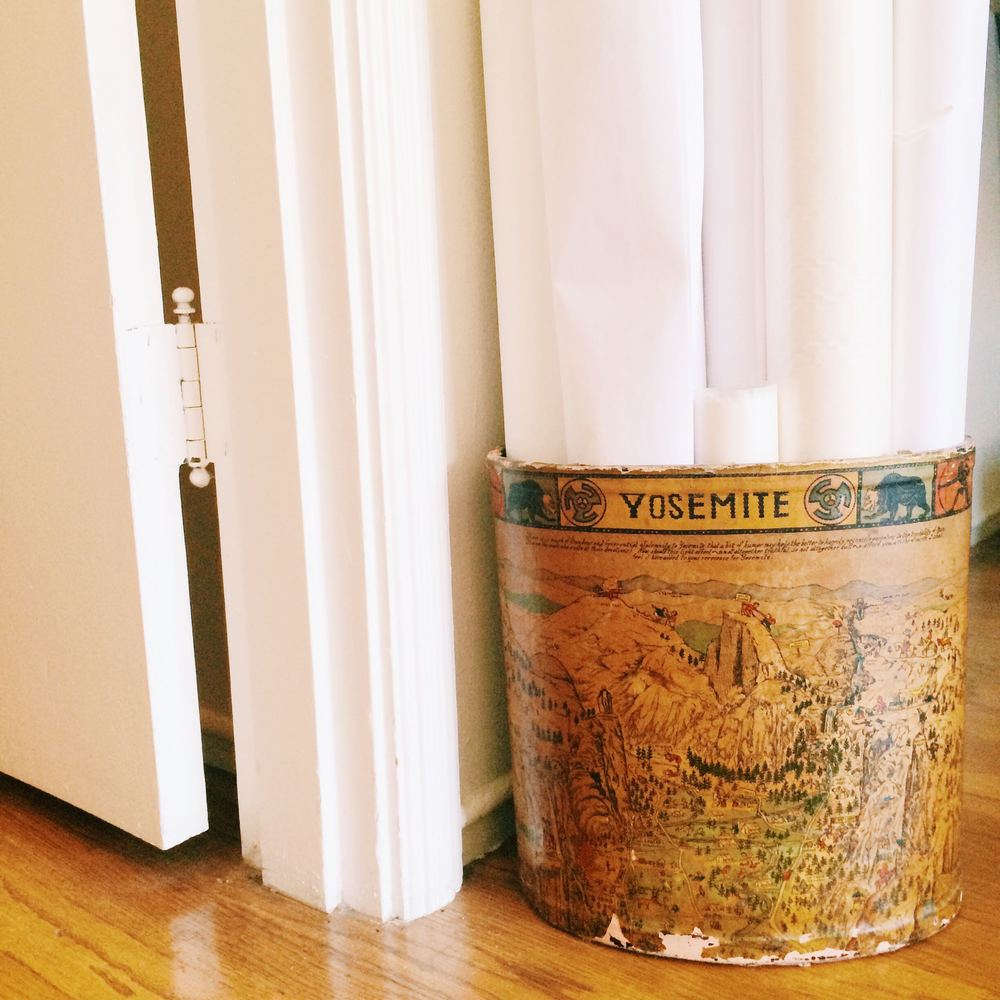 Vintage trash cans are the best containers.