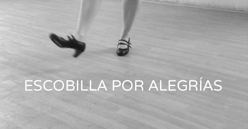 Escobilla por alegrías - 4 different flamenco footwork steps to learn | flamencobites.com