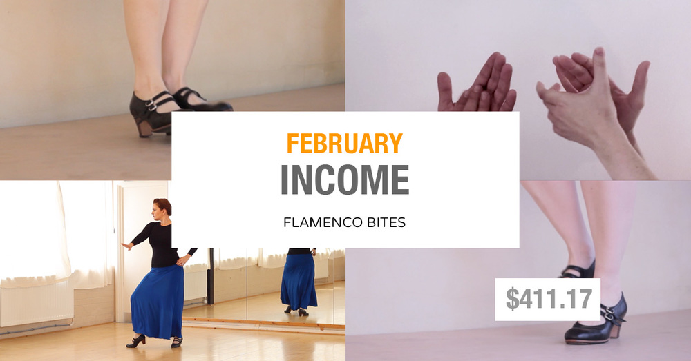 Flamenco Bites February income and traffic