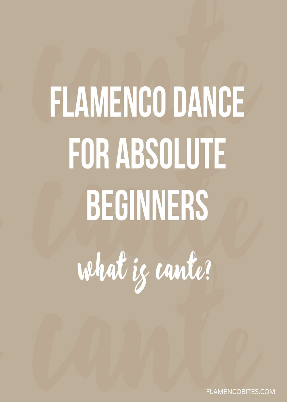 Flamenco music - what is cante? | www.flamencobites.com