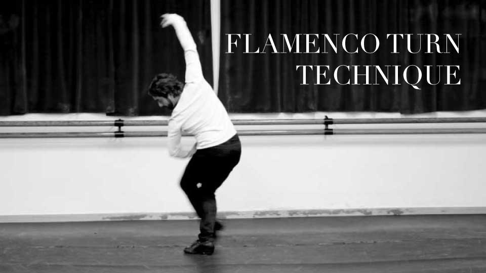 Learn the correct technique for two flamenco turns. The 'vuelta de pecho' (turn of the chest) and the 'vuelta de tacón' (turn of the heel).