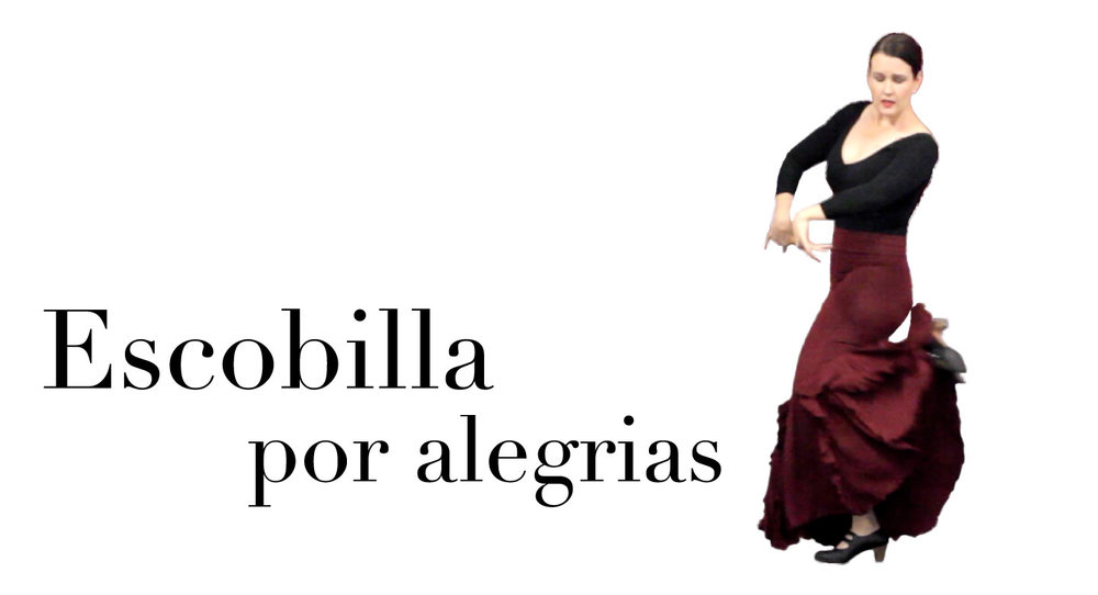 escobilla por alegrías is the new class now available in danza estudio Flamenco Bites