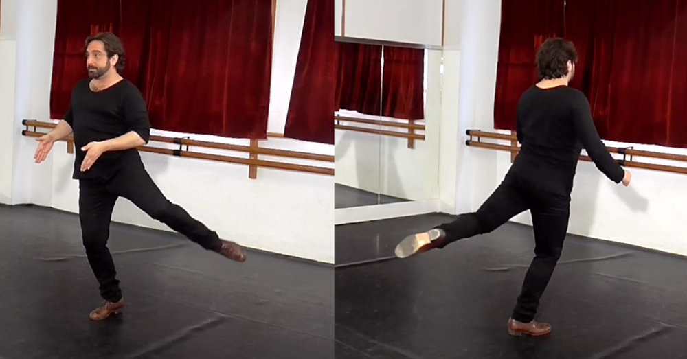 Demonstration of the attitude position to support the bata de cola
