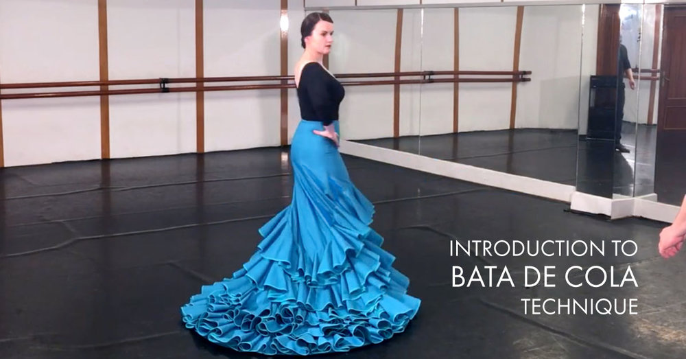 Introduction to bata de cola technique | www.flamencobites.com