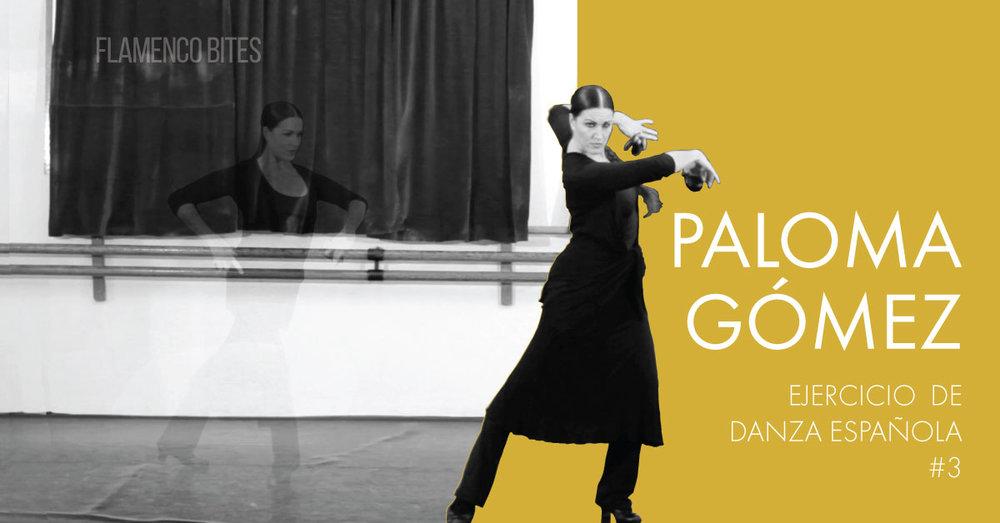 Ejercicio de danza española #3 con Paloma Gómez | www.flamencobites.com