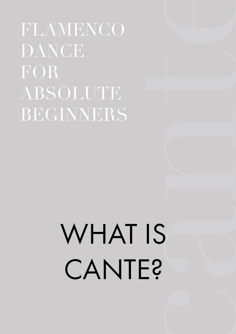 Part 4 - Guide to flamenco dance for absolute beginners | What is cante?