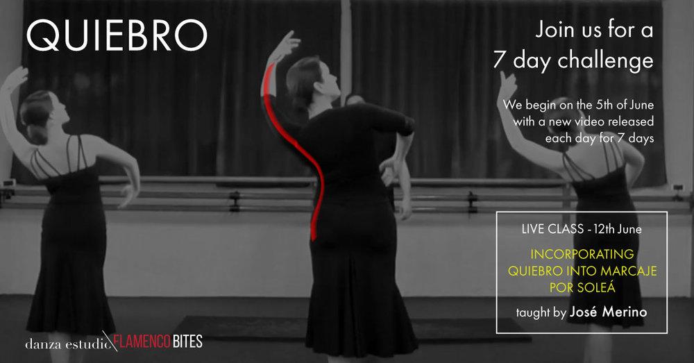 danza estudio Flamenco Bites 'Quiebro' challenge