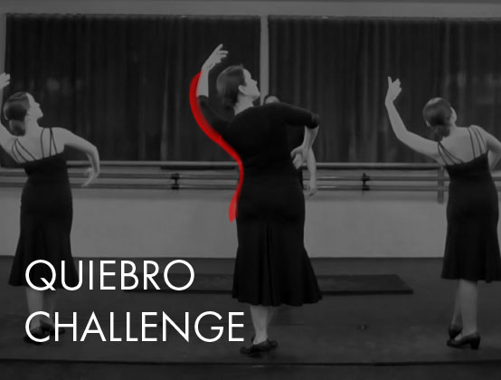 *Members Only*  Each days for 6 days practice a different aspect of quiebro technique then put your work into action on day 7 with a class taught by José Merino about how to use quiebro with marcajes por soleá.