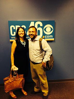 Leize Davis and Kevin at CBS Atlanta