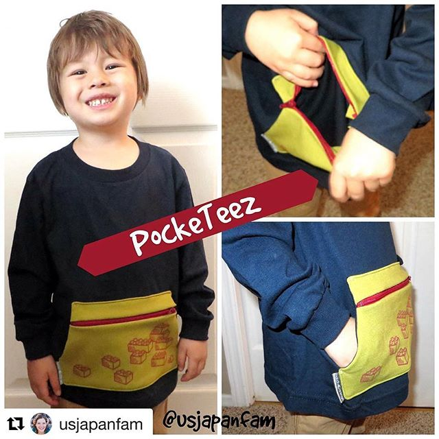 Thanks for the great review!  #Repost @usjapanfam with @repostapp ・・・ A t-shirt with a zippered pocket?? Yep, it's a thing and it's awesome!! Link in bio for my review of @hatchthings' latest innovation #PockeTeez and how you can get one! #ad #kidsfashion #toddlerfashion #tshirt #kidsgear #momlife #momblogger #momblog @kickstarter #kickstarter #pocketshirt #whatsinyourpicket #brooklynkids #kidstyle @cambainc #instakidsfashion #instakids #ootd #holdplease #holdpleasepocketeez