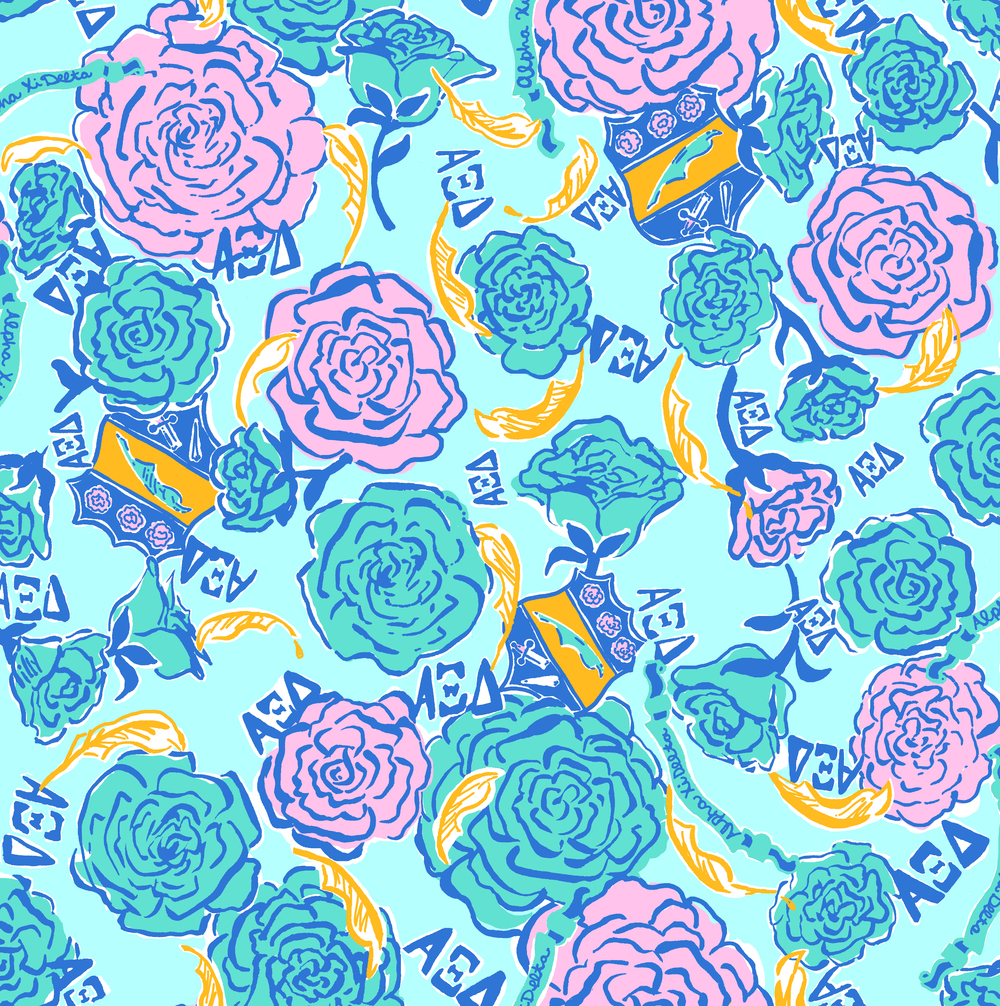 Lilly Pulitzer Custom : Alpha Xi Delta