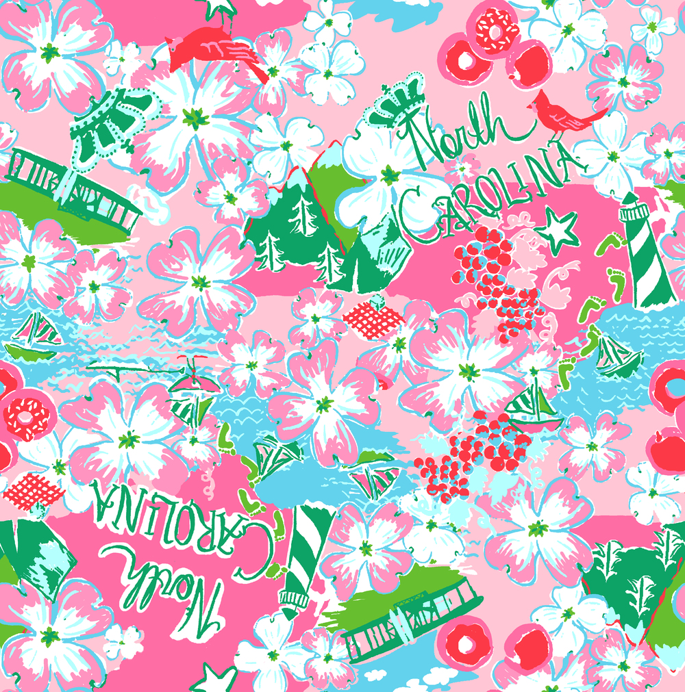 Lilly Pulitzer Custom : North Carolina