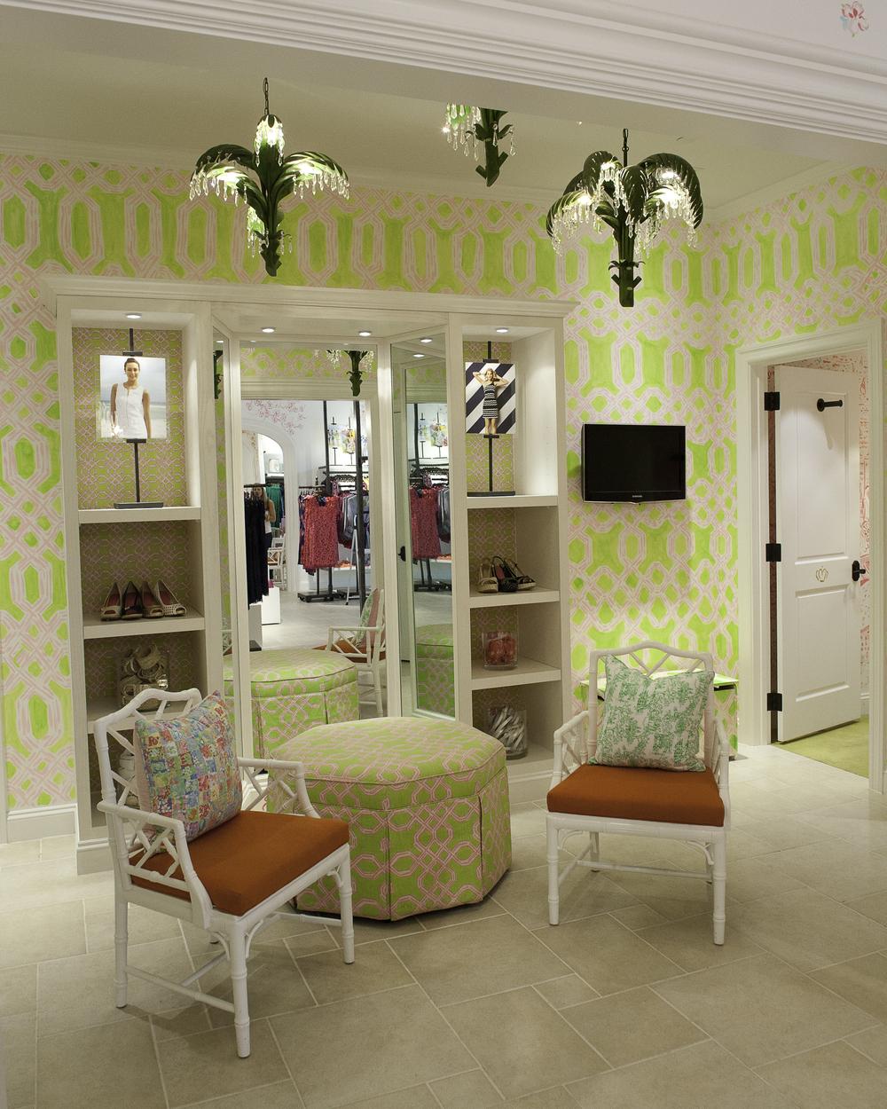 Retail store installations murals ernie and irene - Wallpaper store charlotte nc ...