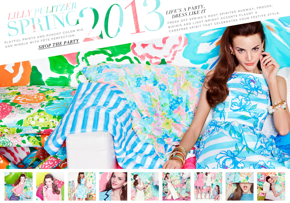 Bloomingdale's Lilly Pulitzer Spring 13 Lookbook