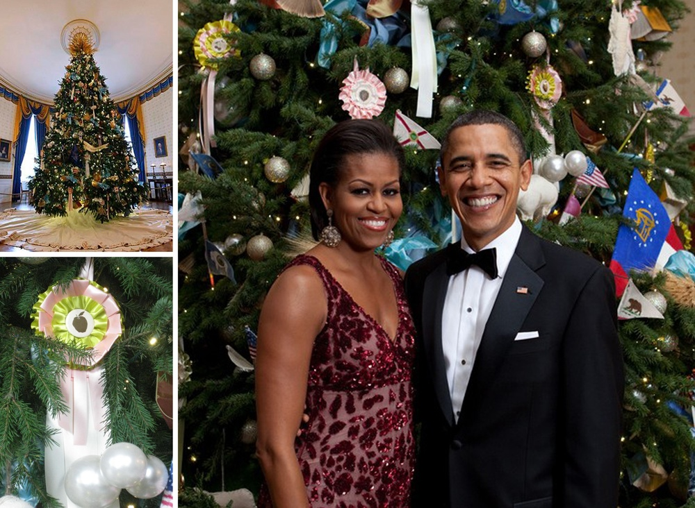 White House Blue Room Christmas Tree Ornaments