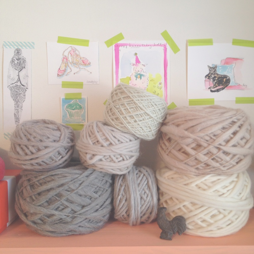My latest trip to Purl Soho left me with these lovely skeins.