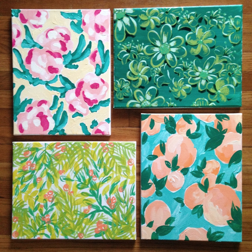 Four Custom Canvases
