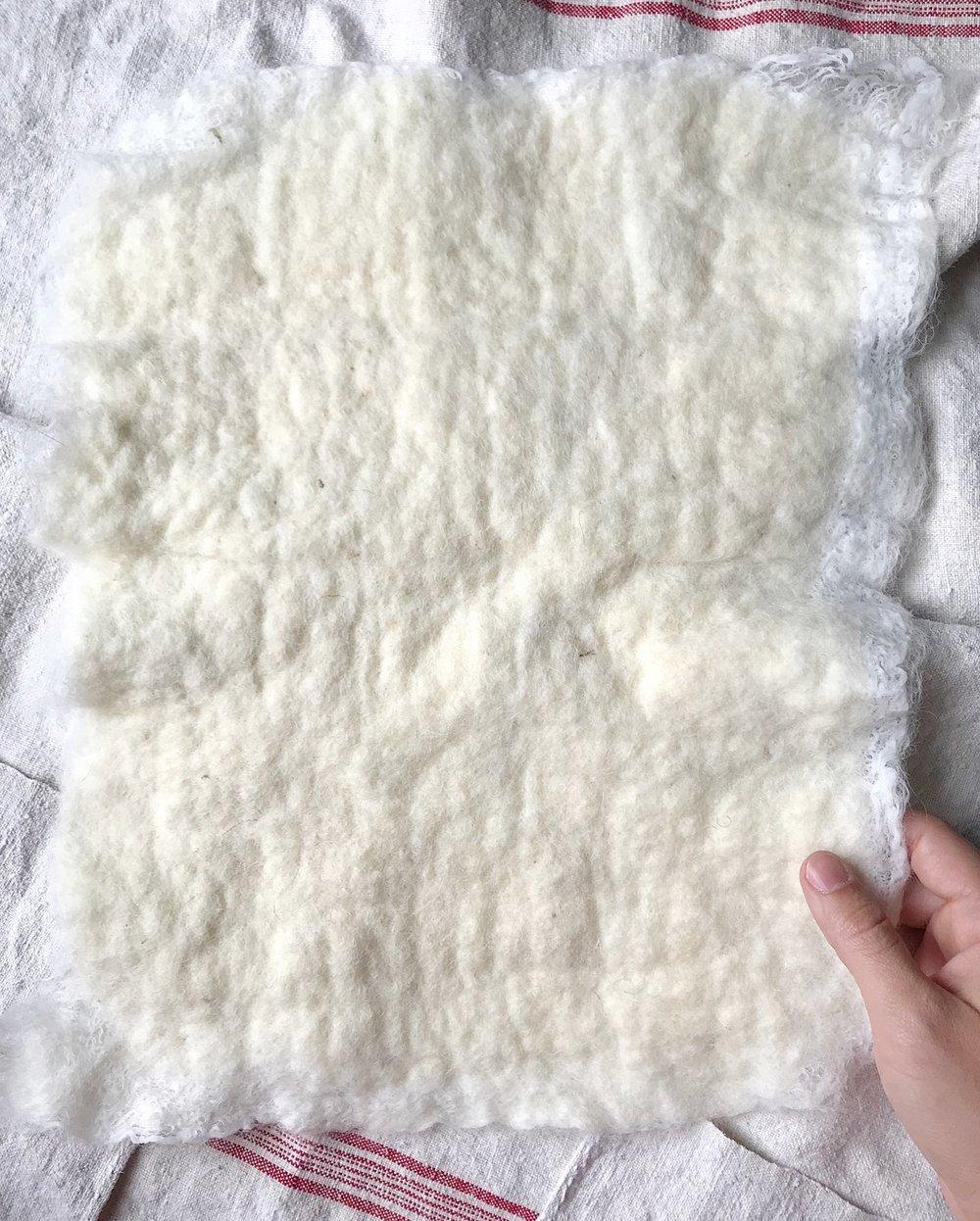 Custom Nuno-Felted Fabric