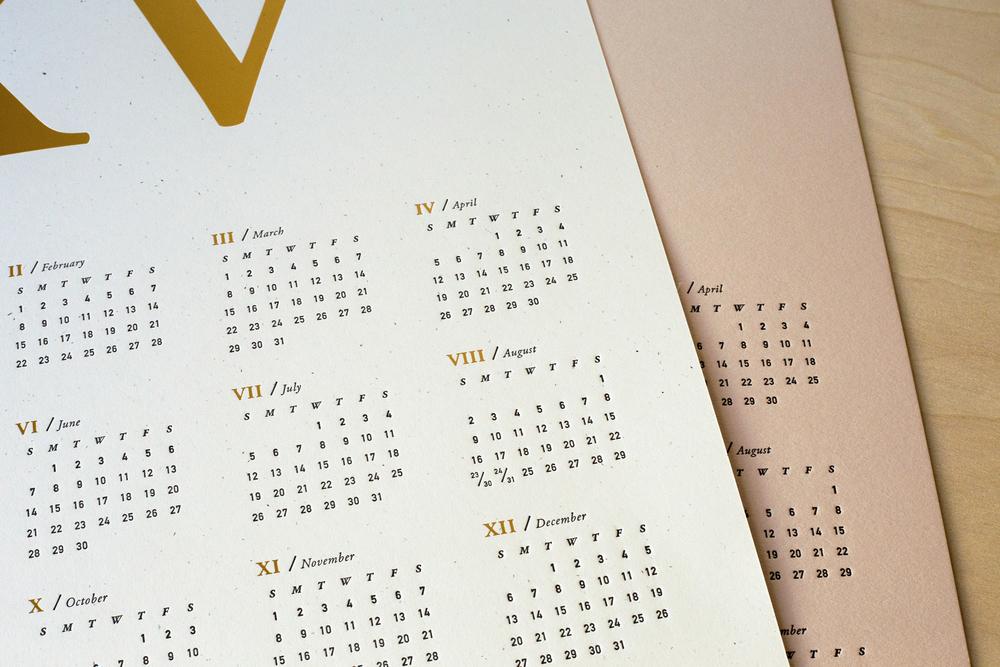 Chelsey Dyer — 2015MMXV Letterpress Wall Calendar