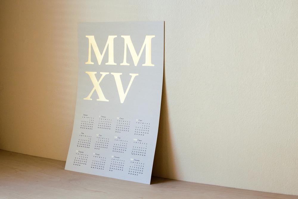 2015 MMXV Letterpress Calendar